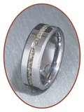 JB Memorials Tungsten Carbide Dames  As Ring - RB048D