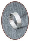 925 Sterling Silber Design Text Gedenk Ring 8mm - RB068_