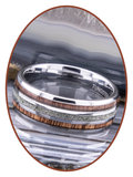 JB Memorials Exclusive Natureline Wood Tungsten As Ring - WR014