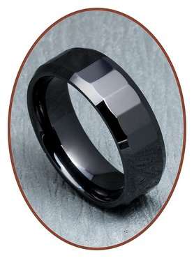Ceramic Zirconium Text Gedenk Ring - XR01
