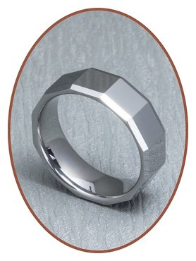 Tungsten Carbide Text Gedenk Ring - XR03