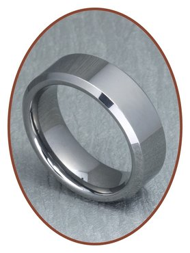 Tungsten Carbide Text Gedenk Ring - XR04