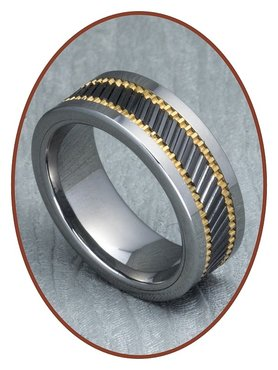Tungsten Carbide Text Gedenk Ring - XR05