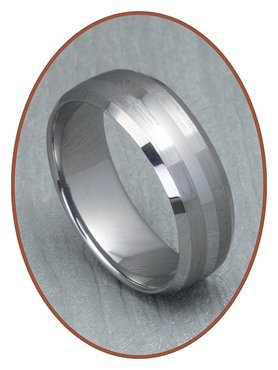 Tungsten Carbide Text Gedenk Ring - XR06