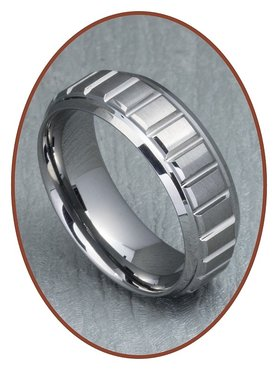 Tungsten Carbide Text Gedenk Ring - XR10