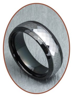 Tungsten Carbide Text Gedenk Ring - XR11