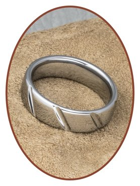Tungsten Carbide Text Gedenk Ring - TSR548