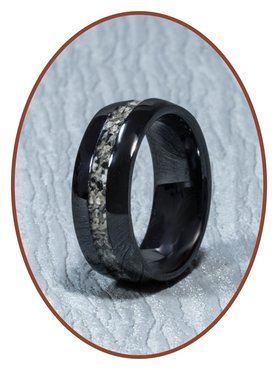 Ceramic Zirconium Design Uni Asche Ring - TC01