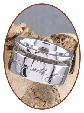 JB Memorials Cobalt Chrome Design Damen Handschrift Asche Ring - RB046DH