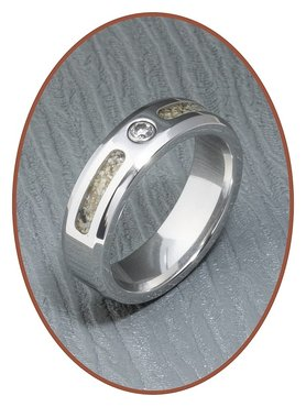 JB Memorials Cobalt Chrome Design Damen Asche Ring - RB047CC