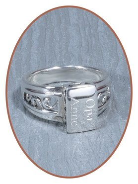 925 Sterling Silber Design Asche Ring - RB018