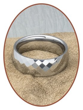 Tungsten Carbide Text Gedenk Ring - KR4000