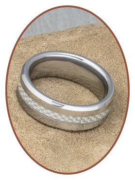 Tungsten Carbide Text Gedenk Ring - KR562