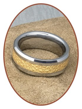 Tungsten Carbide Text Gedenk Ring - KR566