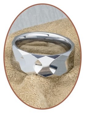 Tungsten Carbide Text Gedenk Ring - KR8059