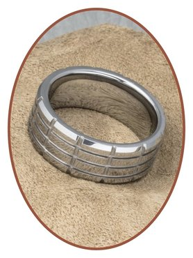 Tungsten Carbide Text Gedenk Ring - KR8064