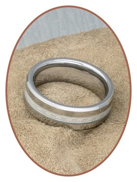 Tungsten Carbide Text Gedenk Ring - KR3107