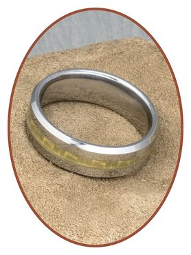 Tungsten Carbide Text Gedenk Ring - KR3108