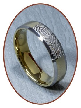 Tungsten Carbide Fingerabdruck Gedenk Ring - AA002V