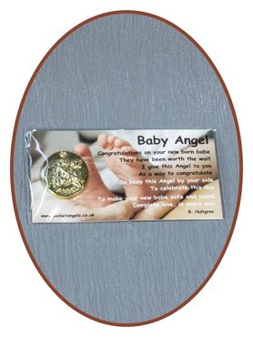 Engel Münze 'Baby Angel'  mit Karte - CARD01