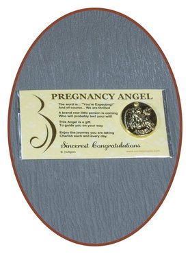 Engel Münze 'Pregnancy Angel'  mit Karte - CARD04