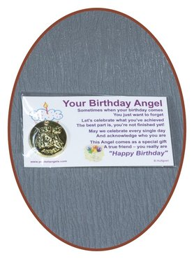 Engel Münze 'Your Birthday'  mit Karte - CARD05