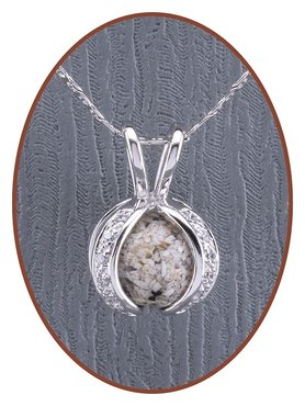 Close2Me© 925 Sterling Silber Asche Anhänger 'Protected' - CM014