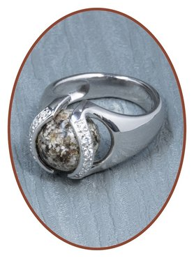 Close2Me© 'Always With Me' 925 Sterling Silber Asche Ring  - CM015R