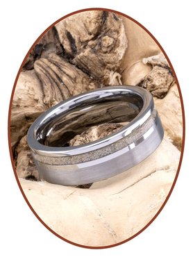 Tungsten Carbide Design Asche Ring - WR010
