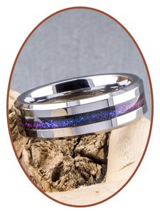 Tungsten Carbide 6mm Chroma Farben Damen  Asche Ring - RB048CHR