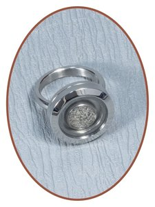 Edelstalen/RVS Dames Medaillon As Ring - RB127