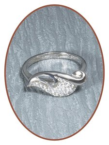 JB Memorials Sterling Zilveren Zirconia Dames As Ring - RB055